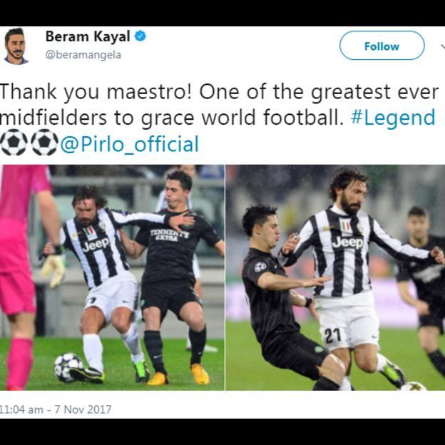Kayal tweet Pirlo