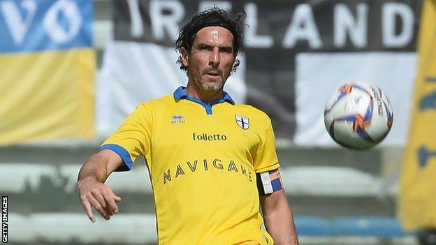 Parma captain Alessandro Lucarelli
