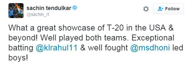 Sachin Tendulkar tweet