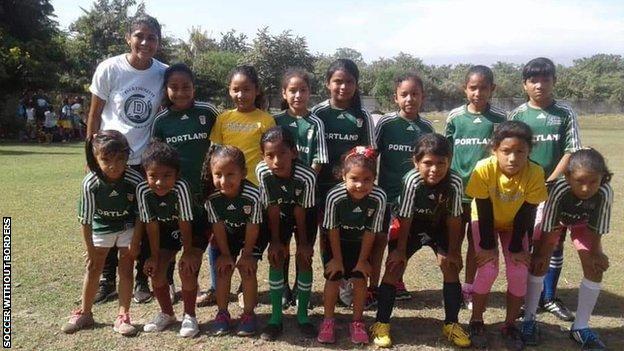 Francisca coaching in Nicaragua