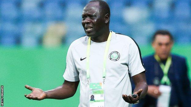 Nigeria under-17 coach Manu Garba