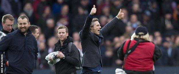 Gareth Ainsworth celebrates