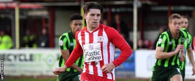 Josh Windass scores for Accrington Stanley