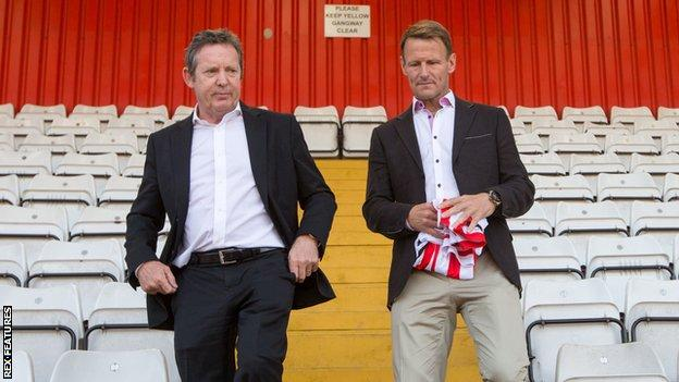 Phil Wallace and Teddy Sheringham