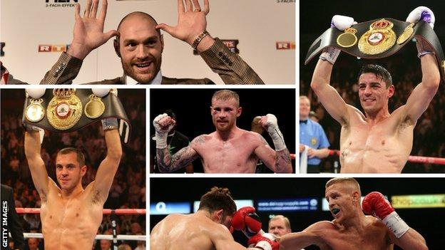 Tyson Fury, Jimmy Kelly, Anthony Crolla, Terry Flanagan, Jimmy Kelly