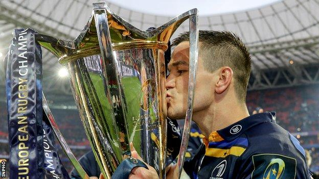 Johnny Sexton with the European Champions Cup