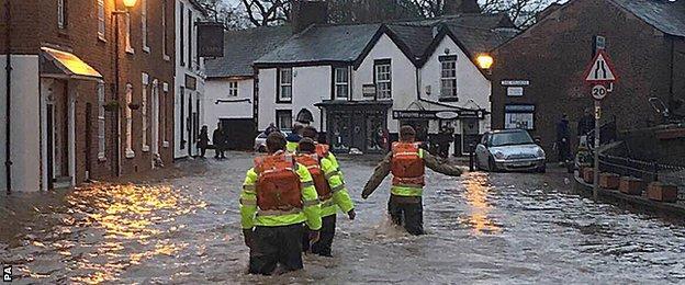 Flooding in Croston