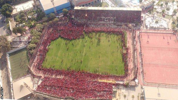 Al Ahly fans unwittingly caused the cancellation of Tuesday's training session in Cairo