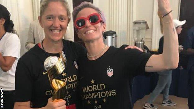 Dawn Scott et Megan Rapinoe
