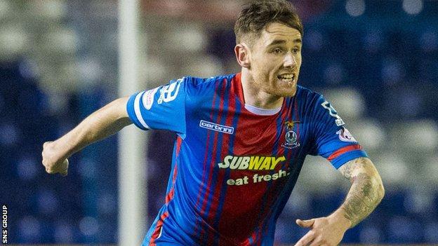Inverness midfielder Greg Tansey