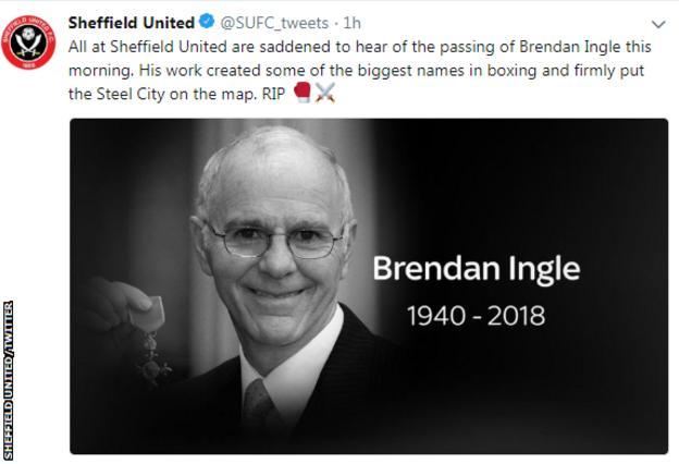 Sheffield United tweet