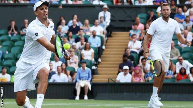 Bryan (left) now has 17 Wimbledon doubles titles