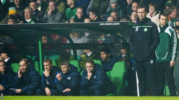 Deila has won eight and lost eight of his 24 European matches in charge of Celtic