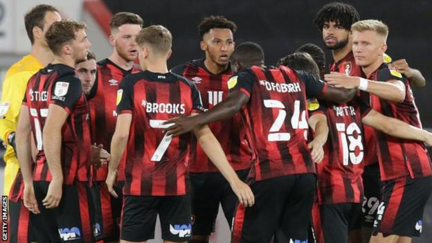 Lloyd Kelly of Bournemouth with his side as captain during the Carabao Cup tie between Bournemouth and Crystal Palace