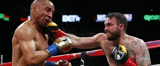 Paul Smith (right) catches Andre Ward but eventually lost