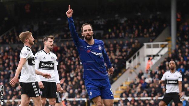 Fulham 1 2 Chelsea Kepa Arrizabalaga Recalled As Sarri S Men Win Derby Bbc Sport