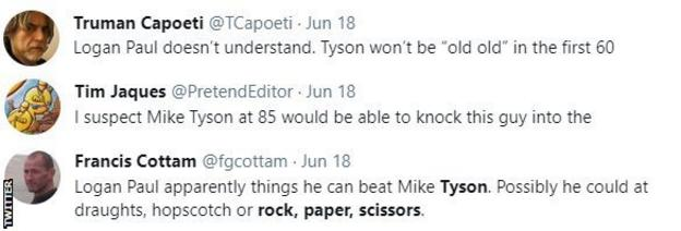 """Boxing fans on Twitter discuss Logan Paul calling Mike Tyson, with fan saying """"I suspect that 85-year-old Mike Tyson would be able to knock this guy down in the stratosphere"""""""