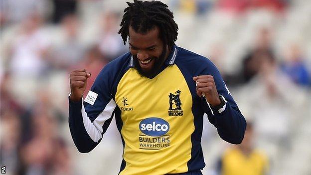 Warwickshire fast bowler Recordo Gordon