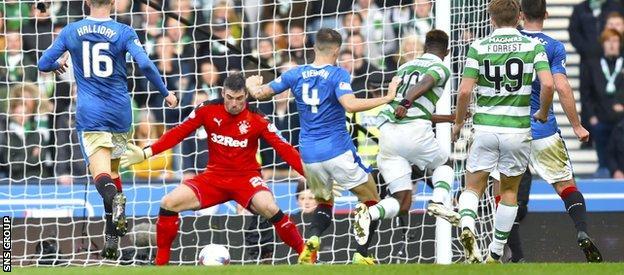Dembele's late flick start the semi-final struggles for Rangers