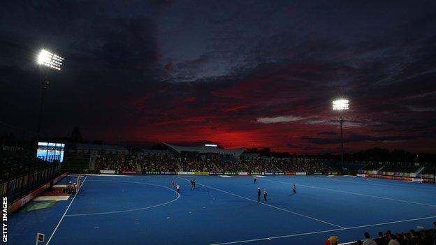 Lee Valley Hockey and Tennis Centre on Queen Elizabeth Olympic Park