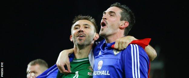 Gareth McAuley and Kyle Lafferty contributed 10 goals between them during the Euro qualifying campaign