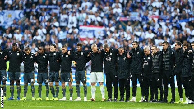 Leicester player silence