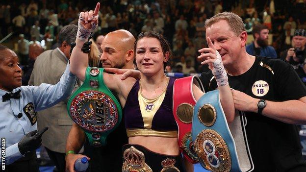 Katie Taylor is a two-weight world champion in women's professional boxing