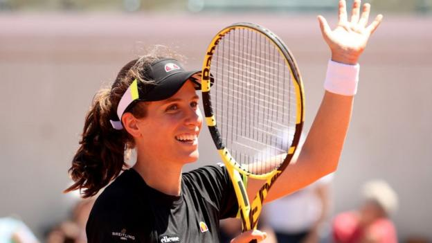 French Open: Britain's Johanna Konta into quarter-finals thumbnail
