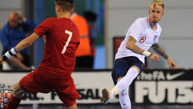 Dean Withers of England futsal