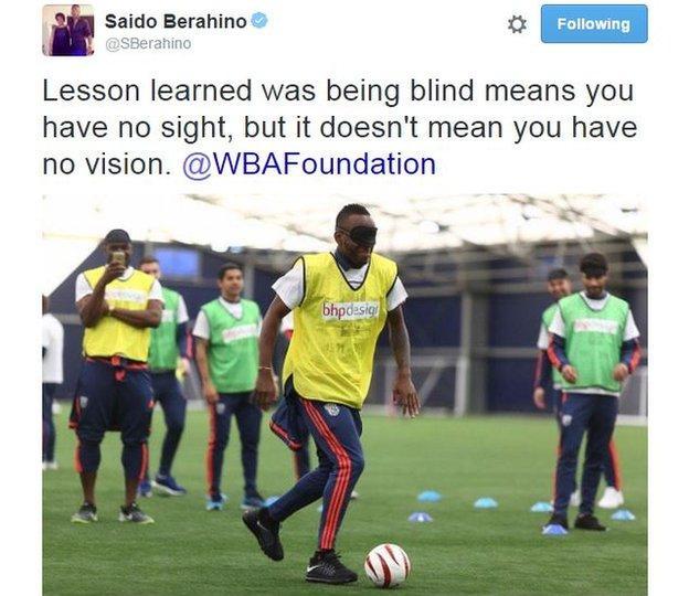 Saido Berahino on Twitter
