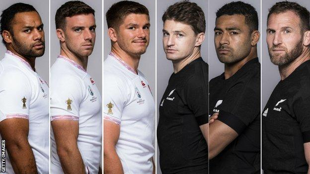 Billy Vunipola, George Ford, Owen Farrell, Beauden Barrett, Richie Mo'unga and Kieran Read