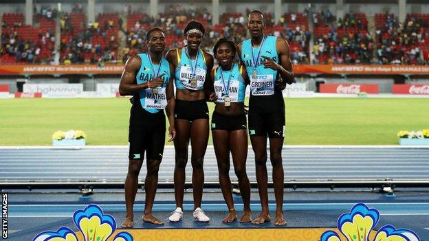 Bahamas mixed relay team