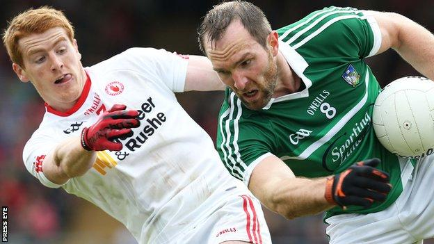 Peter Harte of Tyrone in action against Tom Lee of Limerick