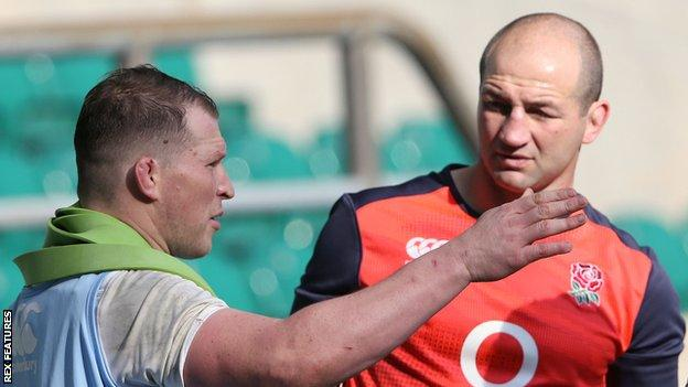 Steve Borthwick and Dylan Hartley