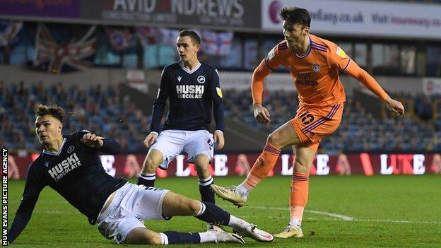 Kieffer Moore scored his fourth Cardiff goal of the season