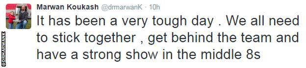 Marwan Koukash tweet