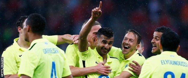 Molde players celebrating