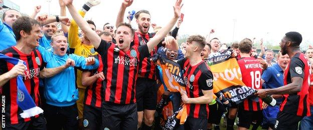 Macclesfield celebrate promotion