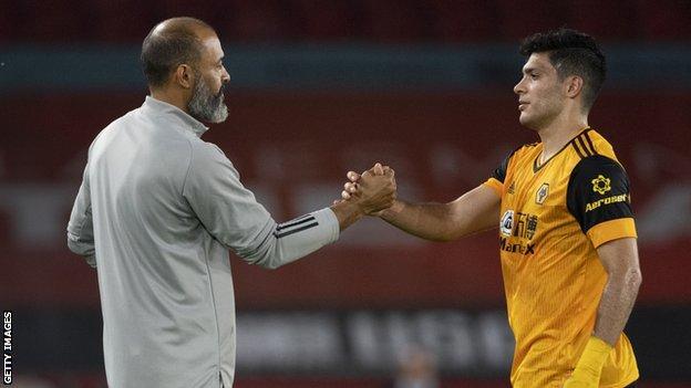 Nuno Espirito Santo, Raul Jimenez ile
