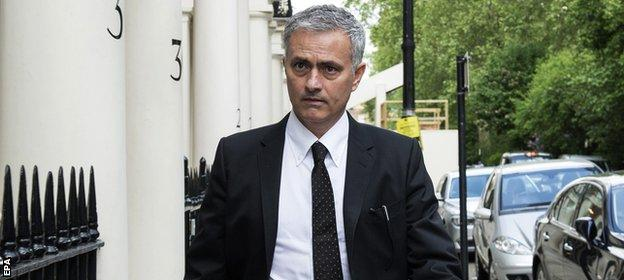 Mourinho outside his London home on Thursday