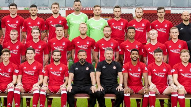 The Aberdeen squad and management