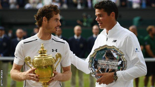 Andy Murray and Milos Raonic