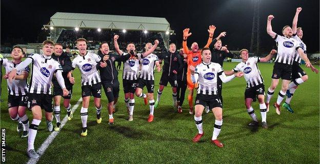 Dundalk celebrate winning another title