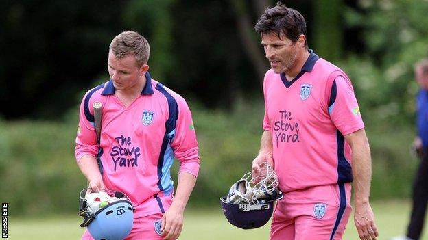Carrick batsmen Steven Grant and Brian Eagleson