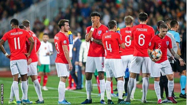 England players collectively decided to continue when offered the option to abandon the match
