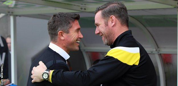 Harry Kewell (left) and Kevin Nolan