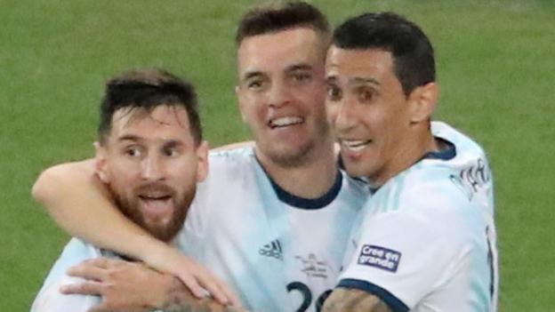 Copa America: Argentina beat Venezuela to set up Brazil semi-final thumbnail