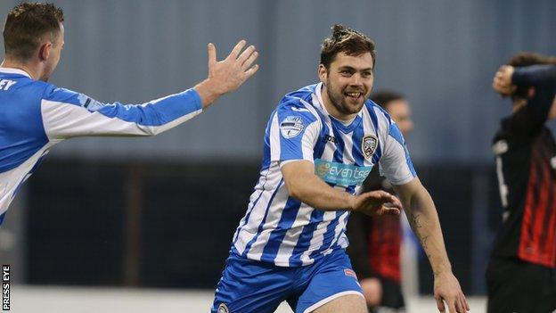 James McLaughlin will have an operation after suffering the injury against Portadown
