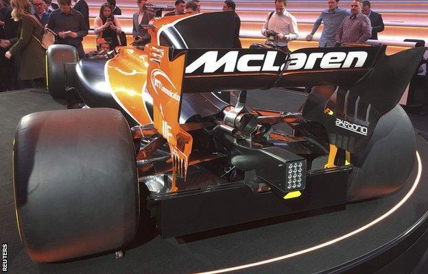 McLaren F1 car launch