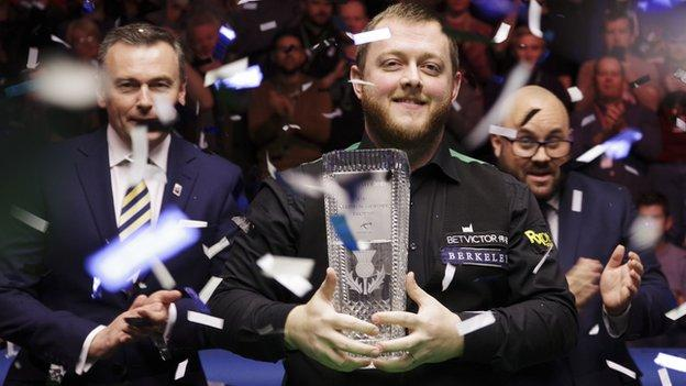 Mark Allen finished his 2018 campaign by winning the Scottish Open